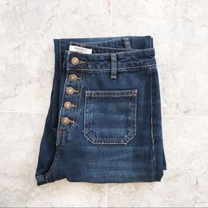 NWOT Button Fly Cropped Jeans